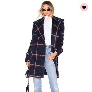 Kendall and Kylie wool blend coat